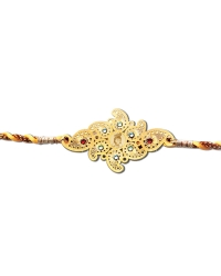 Diviniti 24ct. Gold Plated With Handcrafted Swarovski Bal Gopal Rakhi