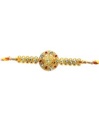 Diviniti 24ct. Gold Plated With Handcrafted Swarovski Chakra Rakhi