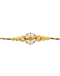 Diviniti 24ct. Gold Plated With Handcrafted Swarovski Om Rakhi
