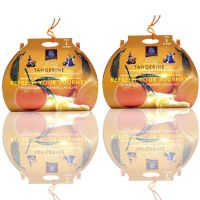 Diviniti Tangerine Fragnance Car Air Freshner Combo Set Of 2 Pcs