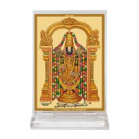 Diviniti Acrylic Car Frame Gold Plated Normal Foil Tirupati Bala Ji (CF-3)