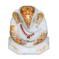 Diviniti Ganesha White And Gold (G2)