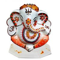 Diviniti Ganesha White And Orange (G4)