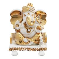 Diviniti Ganesha White And Gold