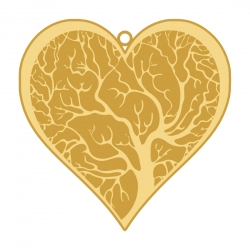 Diviniti Gold Tree Of Life Heart Shape Bookmark