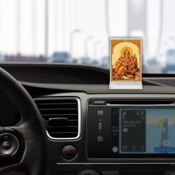 Diviniti Acrylic Car Frame Gold Plated Normal Foil Sitting Ganesha (ACF-3)