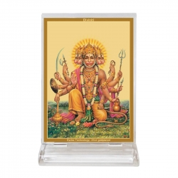Diviniti Acrylic Car Frame Gold Plated Normal Foil Panchmukhi Hanuman (CF-3)