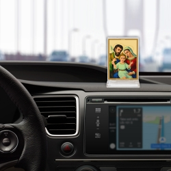 Diviniti Acrylic Car Frame Gold Plated Normal Foil Holy Family (CF-3)