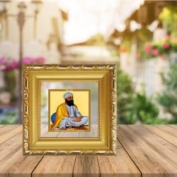 Diviniti Double Glass Photo Frame Gold Plated Normal Foil Guru Teg Bahadur (DGF-1A)