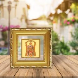 Diviniti Double Glass Photo Frame Gold Plated Normal Foil Tirupati Balaji (DGF-1A)