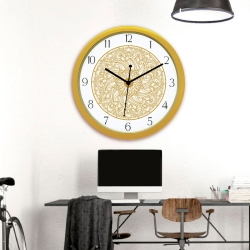 Diviniti Chakra Design Numaric Dial Analog Wall Clock Gold