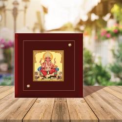 Diviniti MDF Photo Frame Gold Plated Normal Foil Ganesha (MDF-1A)
