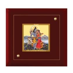 Diviniti MDF Photo Frame Gold Plated Normal Foil Shiv Parwati (MDF-1A)