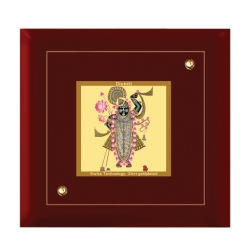 Diviniti MDF Photo Frame Gold Plated Normal Foil Sri Nath (MDF-1A)