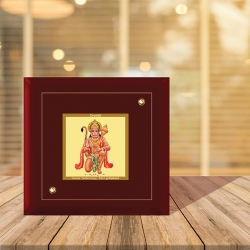Diviniti MDF Photo Frame Gold Plated Normal Foil Hanuman Blessing (MDF-1A)
