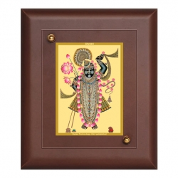 Diviniti MDF Wall Hanging Frame Gold Plated Normal Foil Sri Nath (MDF-S1)