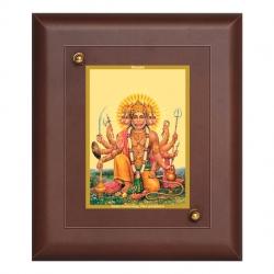 Diviniti MDF Wall Hanging Frame Gold Plated Normal Foil Panchmukhi Hanuman (MDF-S1)