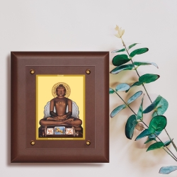 Diviniti MDF Wall Hanging Frame Gold Plated Normal Foil Mahaveer (MDF-2.5)