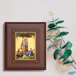 Diviniti MDF Wall Hanging Frame Gold Plated Normal Foil Radha Krishna (MDF-2.5)
