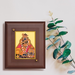 Diviniti MDF Wall Hanging Frame Gold Plated Normal Foil Bankey Bihari (MDF-S2)
