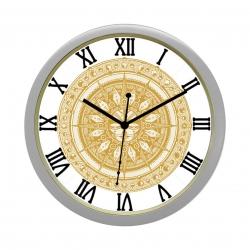 Diviniti Surya Design Roman Dial Analog Wall Clock Silver