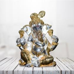 Pujashoppe Ganesha Idol Gold